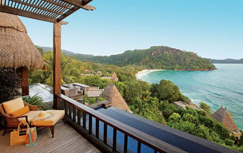 Plunge pool view at MAIA Luxury Resort in Seychelles