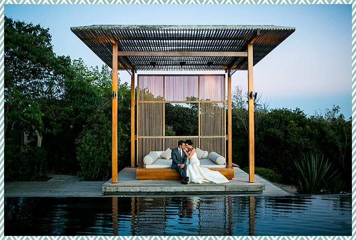 Wedding couple at Amanyara by Scott Clark Photo