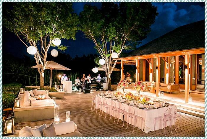 Amanyara villa dinner by Scott Clark Photo